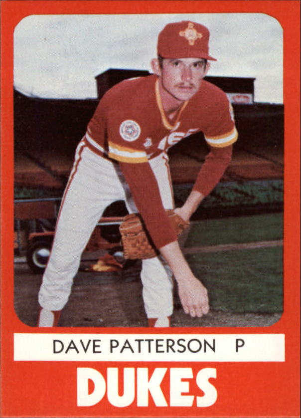 1980 Albuquerque Dukes TCMA #10 Dave Patterson