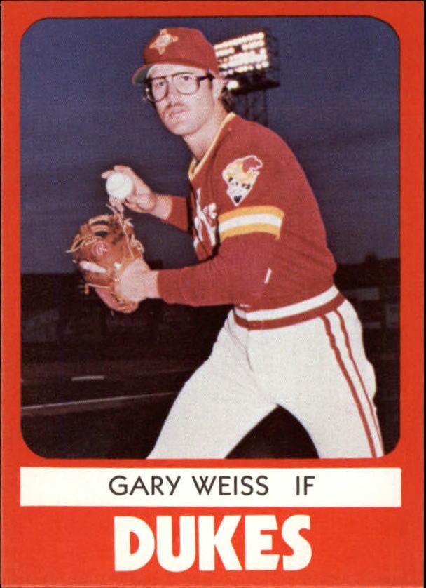 1980 Albuquerque Dukes TCMA #13 Gary Weiss