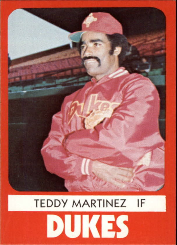 1980 Albuquerque Dukes TCMA #14 Teddy Martinez