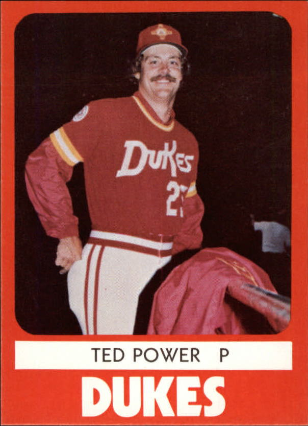 1980 Albuquerque Dukes TCMA #22 Ted Power