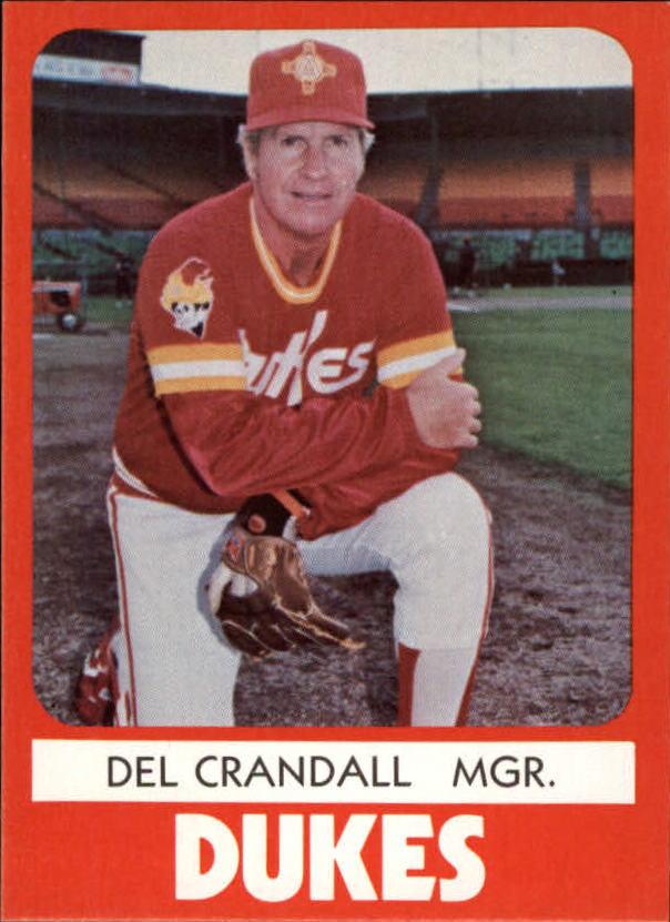 1980 Albuquerque Dukes TCMA #23 Del Crandall