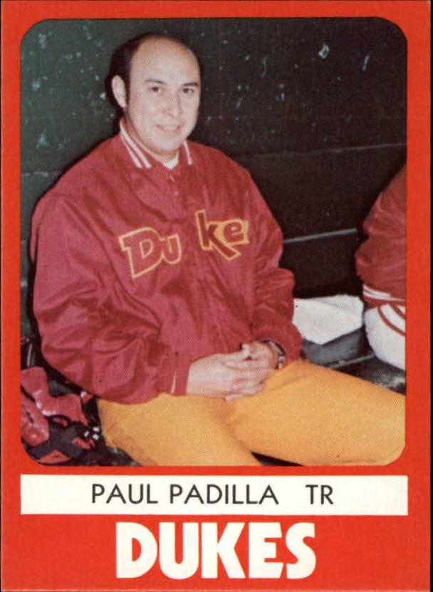 1980 Albuquerque Dukes TCMA #24 Paul Padilla