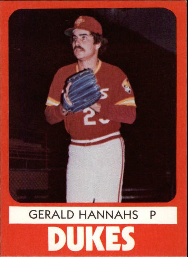 1980 Albuquerque Dukes TCMA #25 Gerald Hannahs