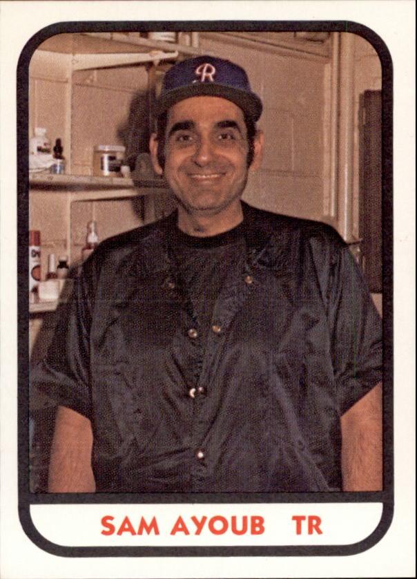 1981 Richmond Braves TCMA #25 Sam Ayoub