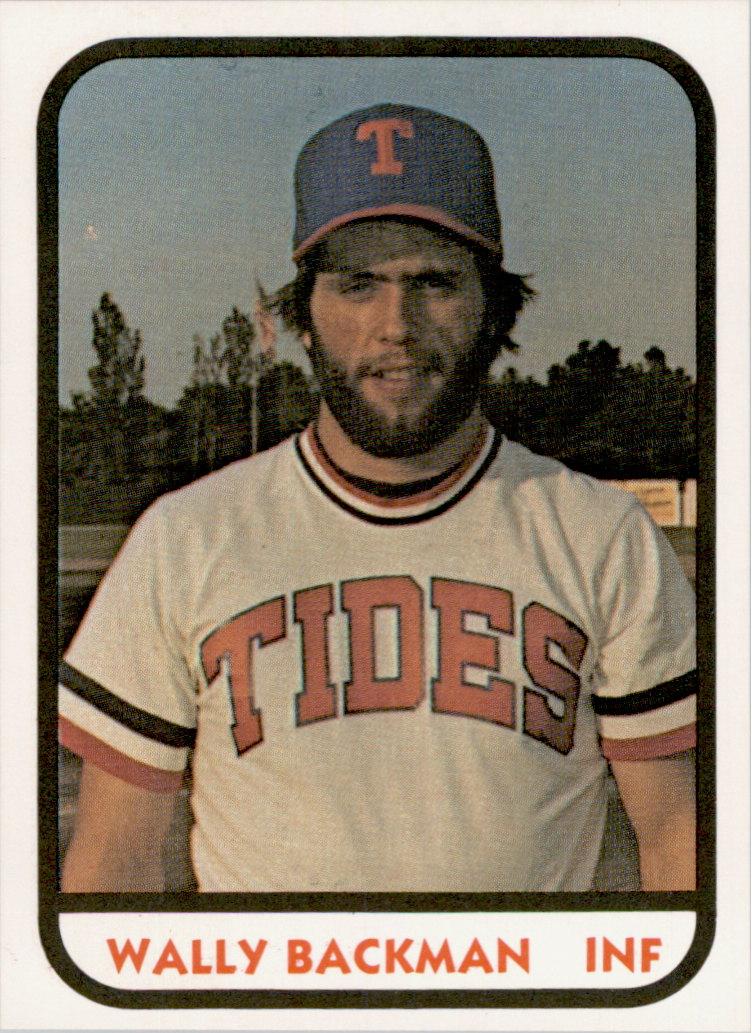 1981 Tidewater Tides TCMA #8 Wally Backman