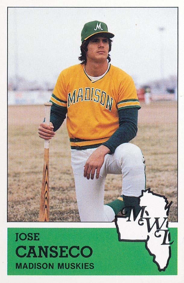 1983 Madison Muskies Fritsch #13 Jose Canseco