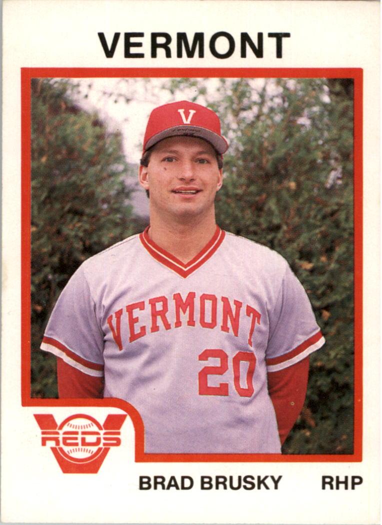1987 Vermont Reds ProCards #1 Brad Brusky