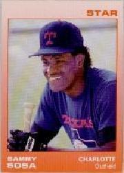 1988 Charlotte Rangers Star #23 Sammy Sosa