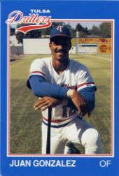 1989 Tulsa Drillers Grand Slam #10 Juan Gonzalez