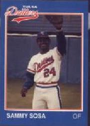 1989 Tulsa Drillers Grand Slam #25 Sammy Sosa