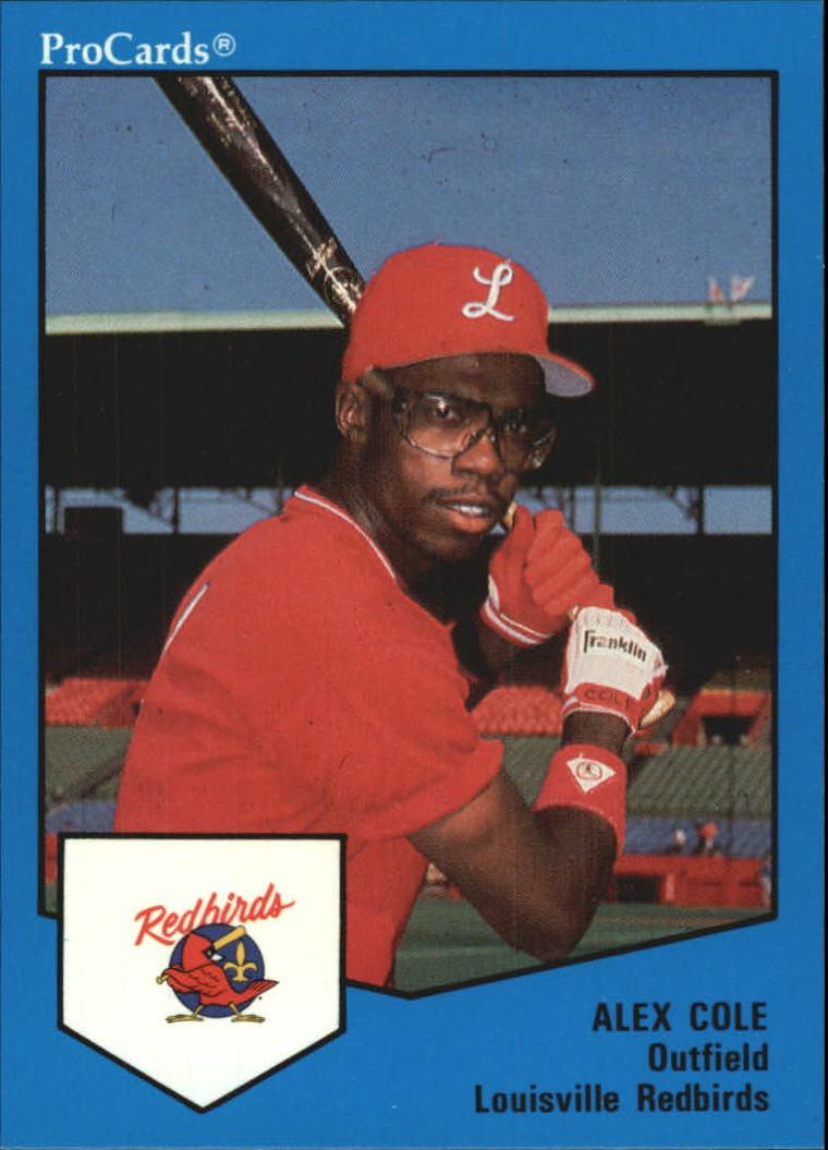 1989 Louisville Red Birds ProCards #1266 Alex Cole