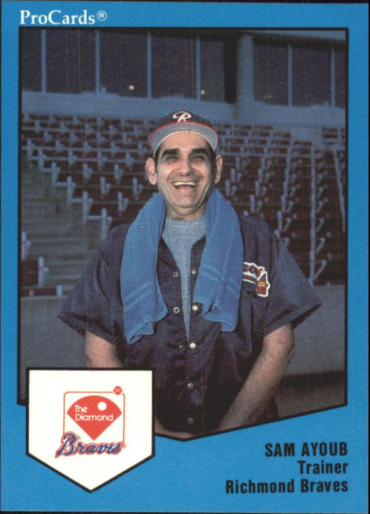 1989 Richmond Braves ProCards #820 Sam Ayoub TR
