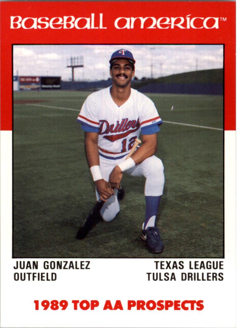 1989 Baseball America AA Prospects Best #AA26 Juan Gonzalez