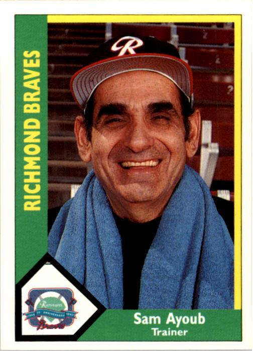 1990 Richmond Braves CMC #18 Sam Ayoub TR