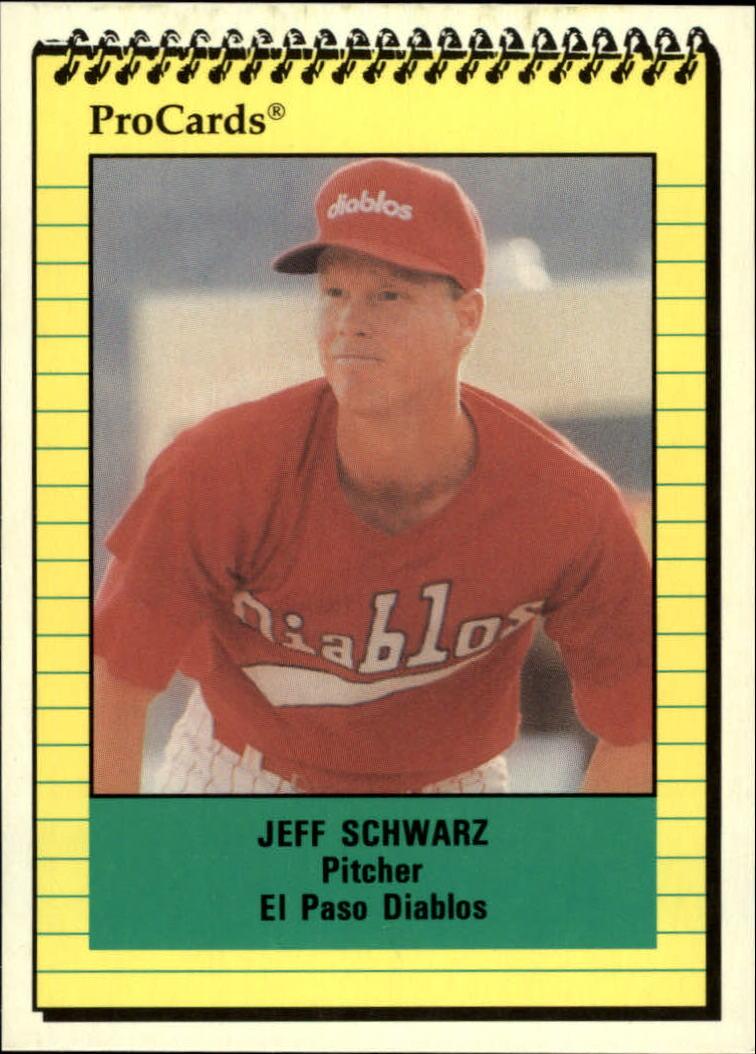 1991 El Paso Diablos ProCards #2748 Jeff Schwarz
