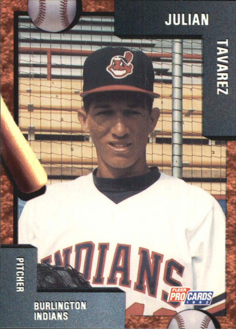 1992 Burlington Indians Fleer/ProCards #1657 Julian Tavares