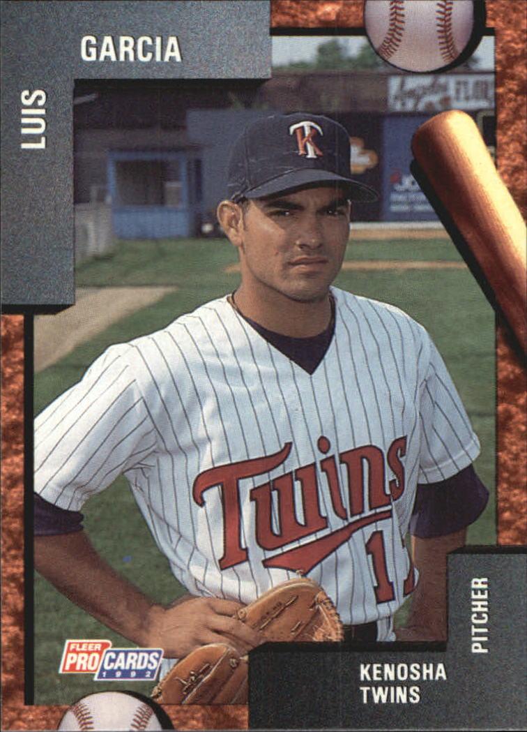 1992 Kenosha Twins Fleer/ProCards #596 Luis Garcia