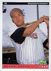 1993 Greensboro Hornets Classic/Best #1 Derek Jeter