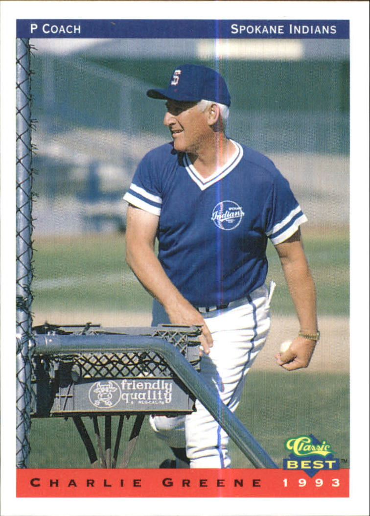 1993 Spokane Indians Classic/Best #30 Charlie Greene CO/Checklist
