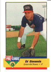 1994 Greenville Braves Fleer/ProCards #419 Ed Giovanola