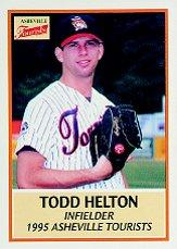 1995 Asheville Tourists Update Team Issue #9 Todd Helton