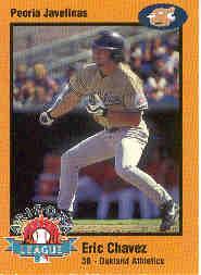1998 Arizona Fall League Prospects Gold #9 Eric Chavez