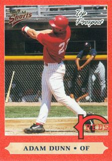 1999 Midwest League Prospects Multi-Ad #35 Adam Dunn UPD