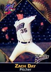 2001 Akron Aeros Multi-Ad #5 Zach Day