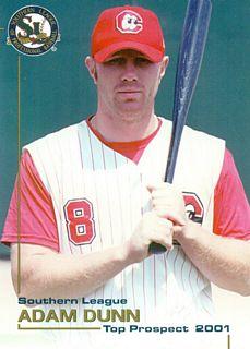 2001 Southern League Top Prospects Grandstand #10 Adam Dunn