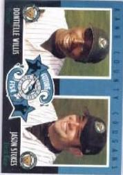 2002 Kane County Cougars Old Navy #12 D.Willis/J.Stokes FF