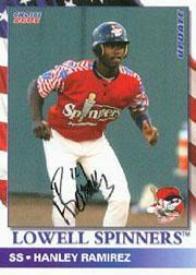 2002 Lowell Spinners Update Choice Autographs #3 Hanley Ramirez/40