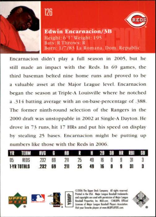 2006 Upper Deck #126 Edwin Encarnacion back image