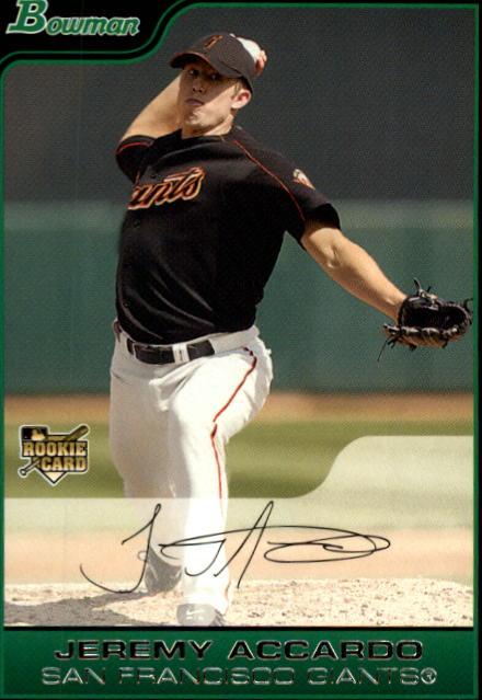2006 Bowman #203 Jeremy Accardo RC