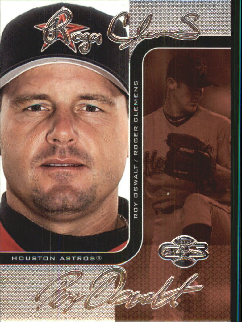 2006 Topps Co-Signers Changing Faces Silver Red #2B Roger Clemens/Roy Oswalt