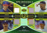 2006 Upper Deck Epic Awesome 8 Materials #PJCR Mark Prior Jsy/Randy Johnson Jsy/Roger Clemens Pants/Nolan Ryan Jsy/Tom Seaver Jsy/Bob Gibson Jsy/Juan Marichal Jsy/Whitey Ford Jsy/10