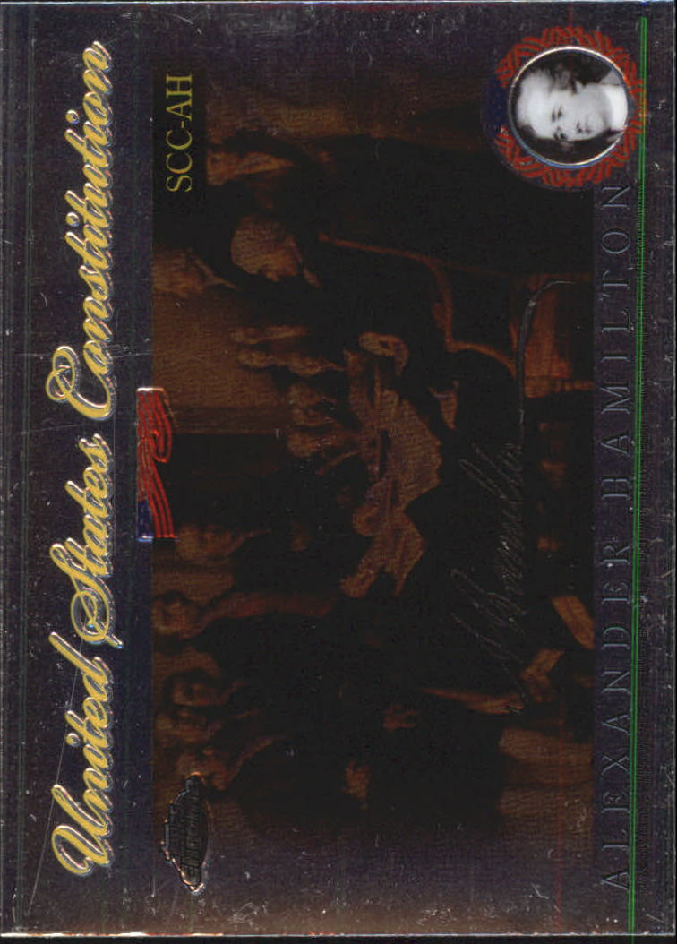 2006 Topps Chrome United States Constitution #AH Alexander Hamilton back image