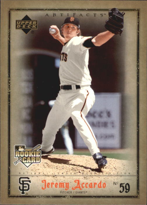 2006 Artifacts #77 Jeremy Accardo RC