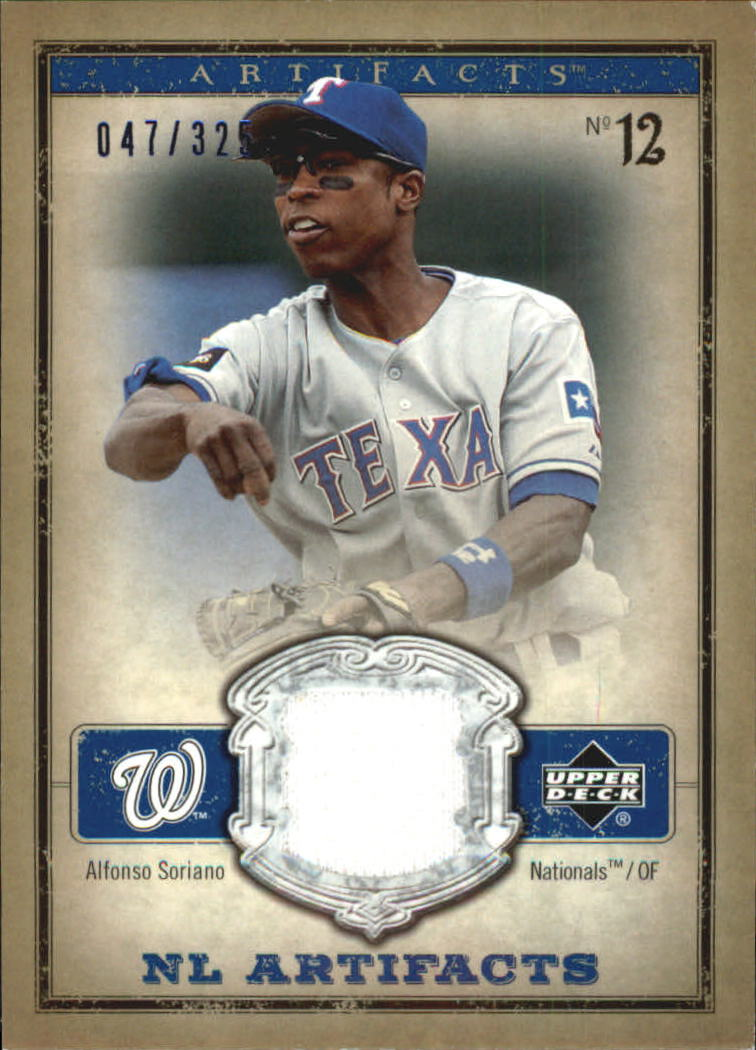 2006 Artifacts AL/NL Artifacts Blue #ASN Alfonso Soriano Jsy/325