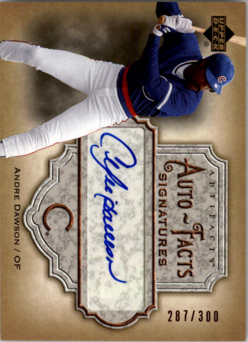 2006 Artifacts Auto-Facts Signatures #AD Andre Dawson/300
