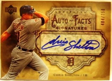 2006 Artifacts Auto-Facts Signatures #CS Chris Shelton/750