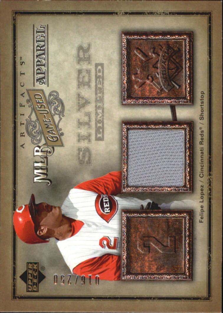 2006 Artifacts MLB Game-Used Apparel Silver Limited #FL Felipe Lopez Jsy/250