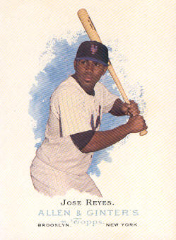 2006 Topps Allen and Ginter #7 Jose Reyes