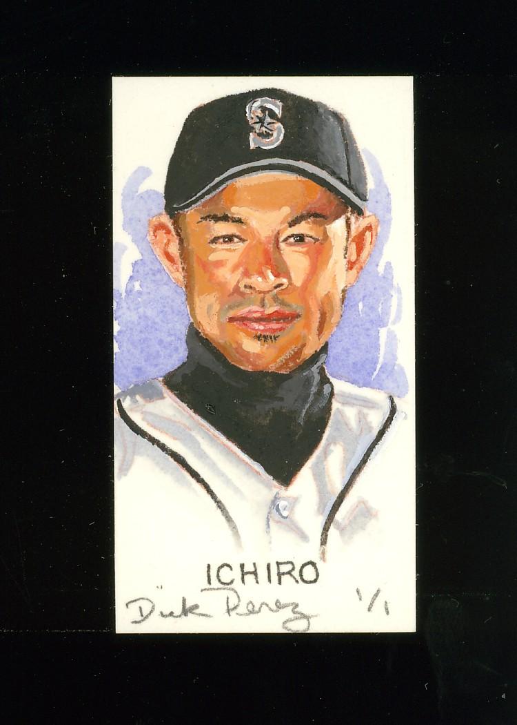2006 Topps Allen and Ginter Dick Perez Original Sketches #24 Ichiro Suzuki
