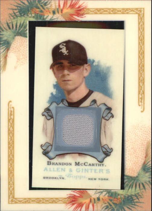 2006 Topps Allen and Ginter Relics #BM Brandon McCarthy Jsy E