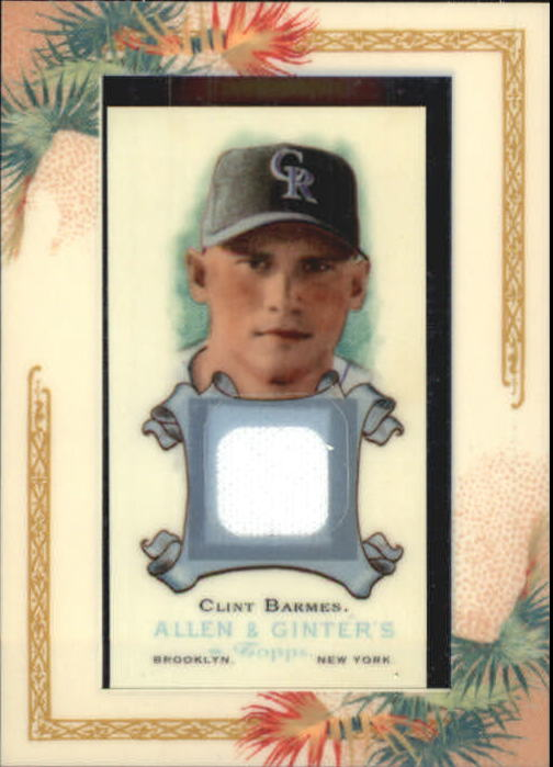2006 Topps Allen and Ginter Relics #CBA Clint Barmes Jsy G