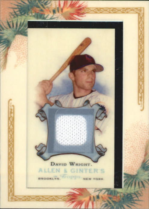 2006 Topps Allen and Ginter Relics #DW David Wright Jsy H