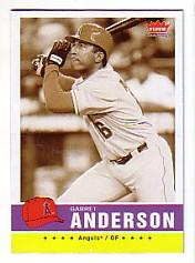 2006 Fleer Tradition Black and White #17 Garret Anderson