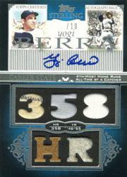 2006 Topps Sterling Career Stats Relics Autographs #YB Yogi Berra 358 HR