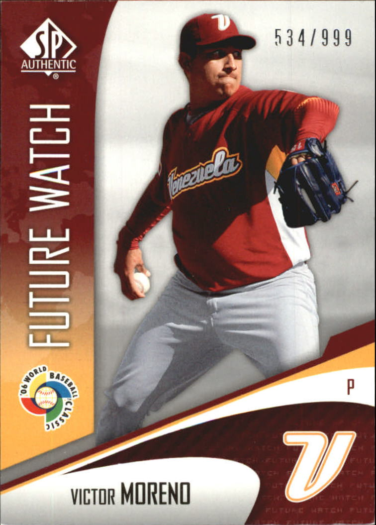 2006 SP Authentic WBC Future Watch #97 Victor Moreno