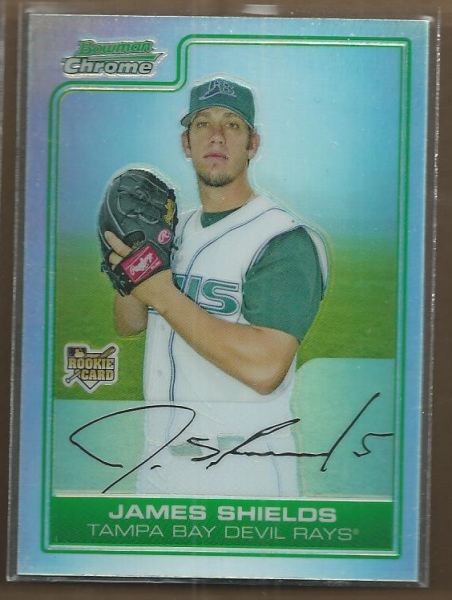2006 Bowman Chrome Draft Refractors #54 James Shields